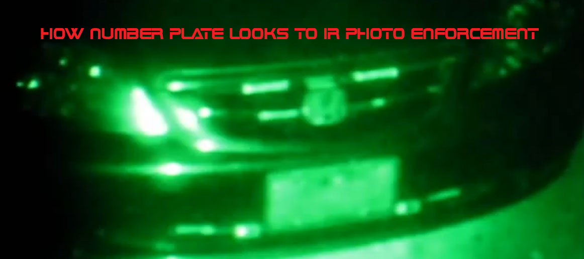 License Number Plate IR Photo Enforcement1