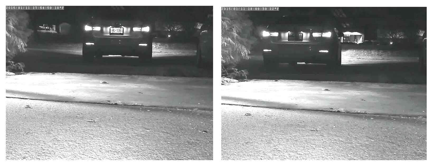 ir image license plate before after