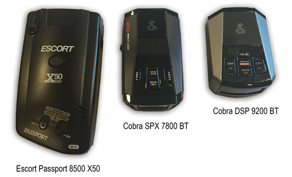 Escort Passport 8500 X50, Cobra SPX 7800BT, Cobra DSP-9200BT