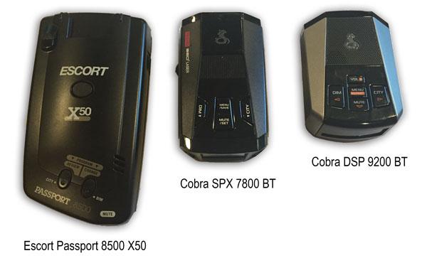 Escort Passport 8500 X50, Cobra SPX 7800BT, Cobra DSP-9200BT