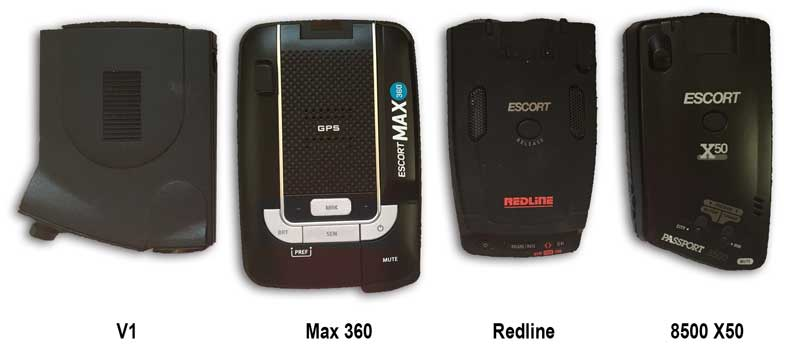 Escort Max 360 versus the V1, Redline, Passport 8500 X50