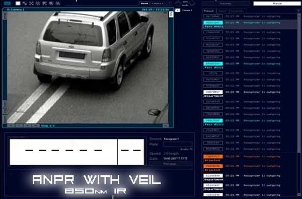 ALPR/ANPR with Veil 850nm Infrared